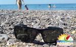 """Пляж и море на Базе отдыха """"Прибой"""" Крым Саки 2016"""